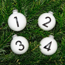 Christbaumkugel NUMBERS (4er Set)