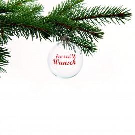 Christbaumkugel Wunsch (inkl. einer kleinen Überraschung)