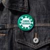 Coronabesieger – Ansteckbutton an Jeansjacke – corpus delicti design Hamburg – Wir machen Geschenke
