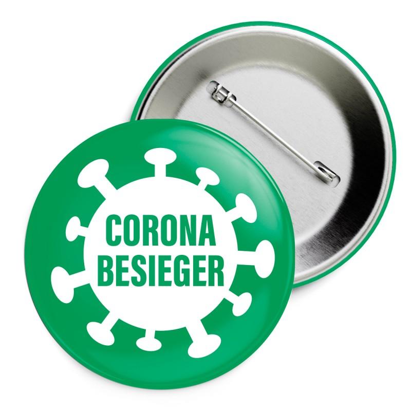 Coronabesieger – Ansteckbutton – corpus delicti design Hamburg – Wir machen Geschenke