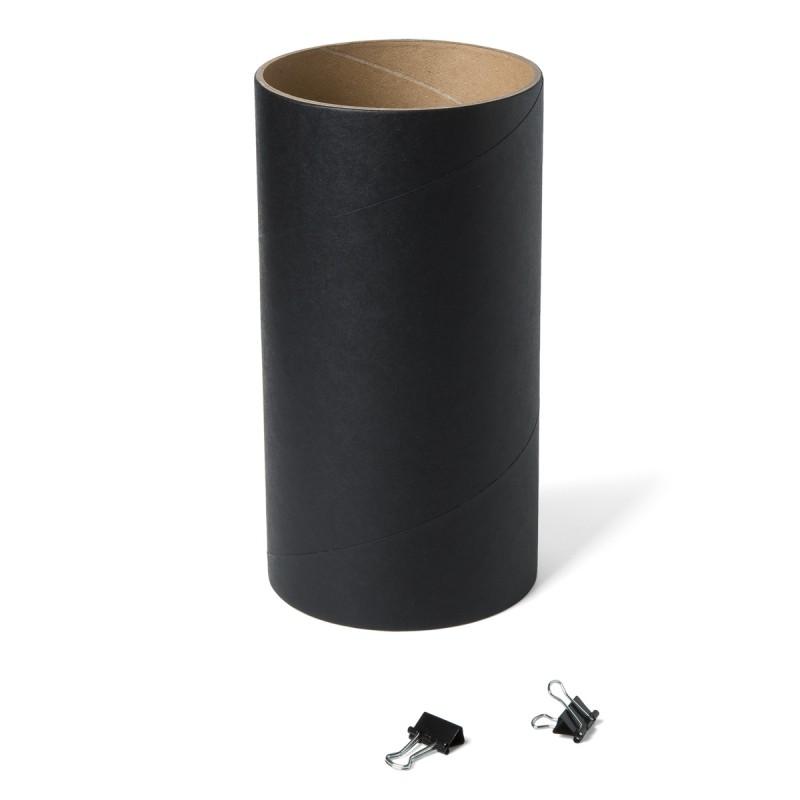Loop - das flexible Schalregal Ersatzhülse schwarz zur Erweiterung des Loop Schalregals mit zwei Klammern – corpus delicti design Hamburg – Wir machen Geschenke