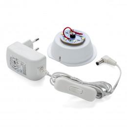 Ersatzteil für LED Leuchten - Steckertransformator, Kabel mit Schalter, Sockel mit LED´s