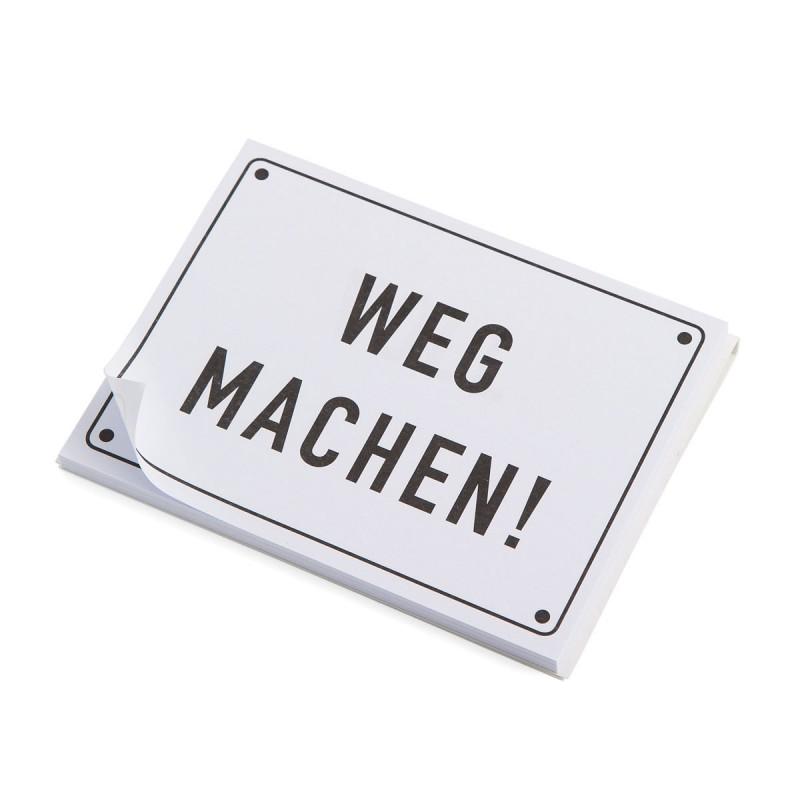 Haftnotizen HAUSHALT Post it Motiv WEG MACHEN! – corpus delicti design Hamburg – Wir machen Geschenke