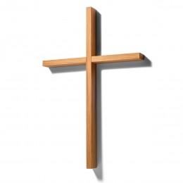 Holzkreuz aus Eiche an der Wand – corpus delicti design Hamburg – Wir machen Geschenke