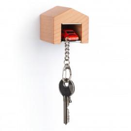 Garage mit Schlüsselanhänger– Porsche911 S blutorange