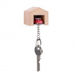 Garage mit Schlüsselanhänger– MiniCooperCheckerrot
