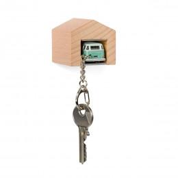 Garage mit Schlüsselanhänger– VWBusT1SambaBulli türkis