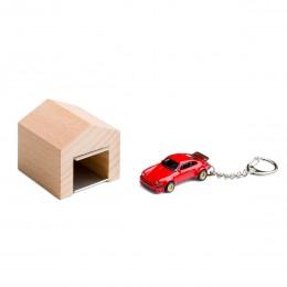 Garage mit Schlüsselanhänger– Porsche934 RSR rot