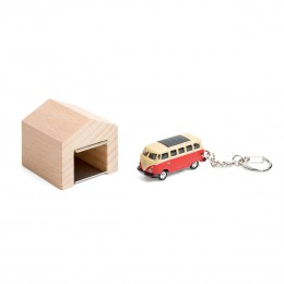 Garage mit Schlüsselanhänger– VWBusT1SambaBullirot