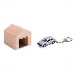 Garage mit Schlüsselanhänger– VWGolfGTII silber