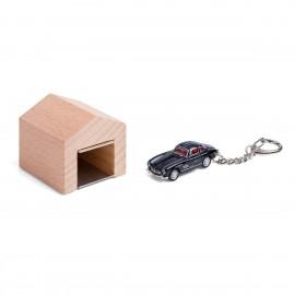 Garage mit Schlüsselanhänger– Mercedes-Benz300SL schwarz