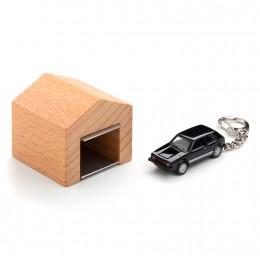 Garage mit Schlüsselanhänger - VW Golf GTI I schwarz an der Wand – corpus delicti design Hamburg – Wir machen Geschenke