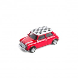 Mini-Pinnwand – Mini Cooper Checker rot