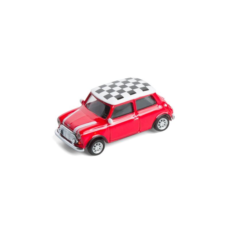 Mini Cooper Checker mit Magnet auf dem Tisch Ansicht schräg von vorn – corpus delicti design Hamburg – Wir machen Geschenke