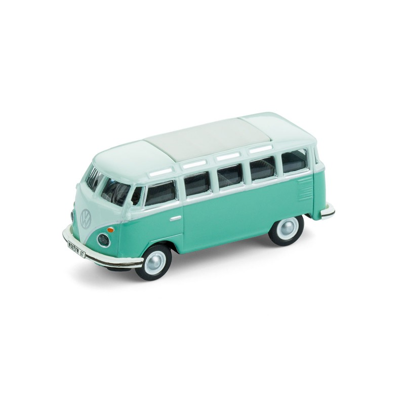 Magnet Volkswagen VW Bus Samba T1 Bulli türkis Ansicht schräg von vorn – corpus delicti design Hamburg – Wir machen Geschenke