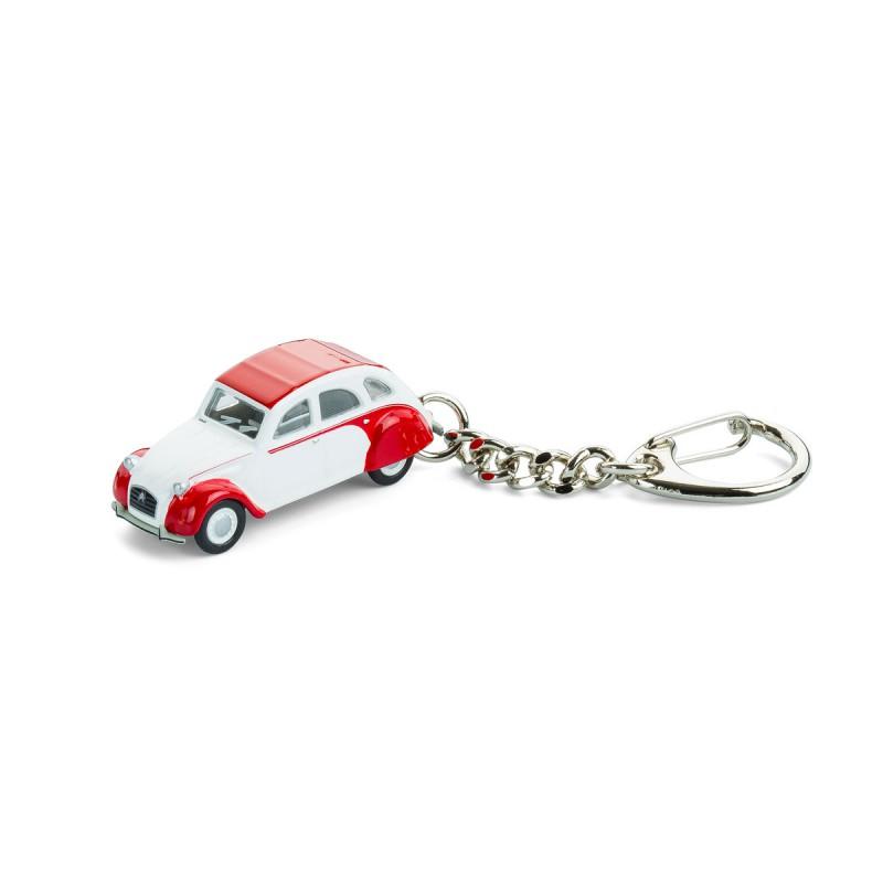 Schlüsselanhänger - Citroën 2CV Dolly - Ente - Döschwo -  auf dem Tisch Vorderansicht – corpus delicti design Hamburg – Wir machen Geschenke
