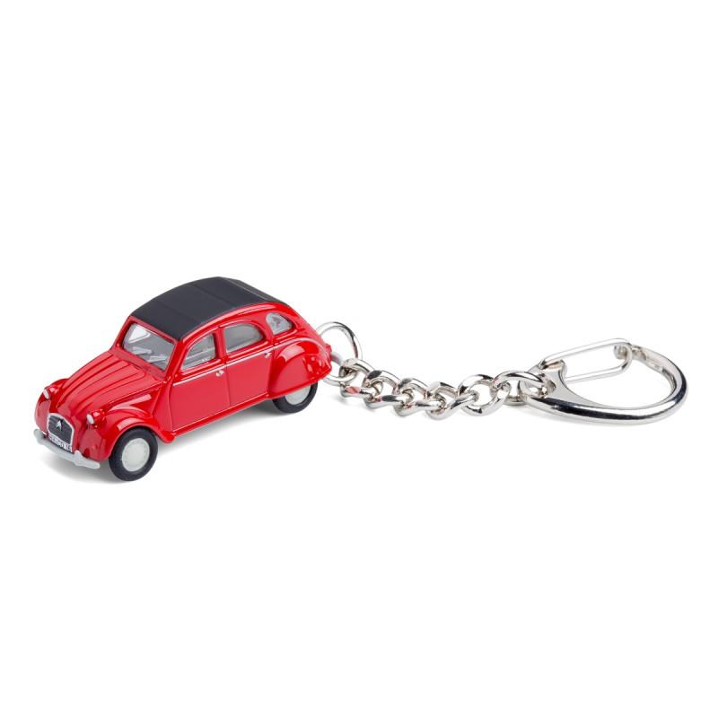 Schlüsselanhänger - Citroën 2CV - Ente - Döschwo auf dem Tisch Vorderansicht – corpus delicti design Hamburg – Wir machen Geschenke