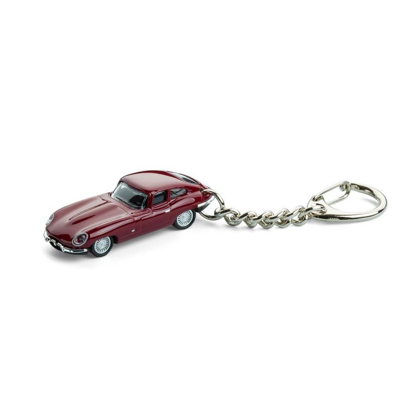 Schlüsselanhänger - Jaguar E-Type auf dem Tisch Ansicht von vorn – corpus delicti design Hamburg – Wir machen Geschenke