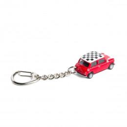 Schlüsselanhänger– MiniCooperCheckerrot