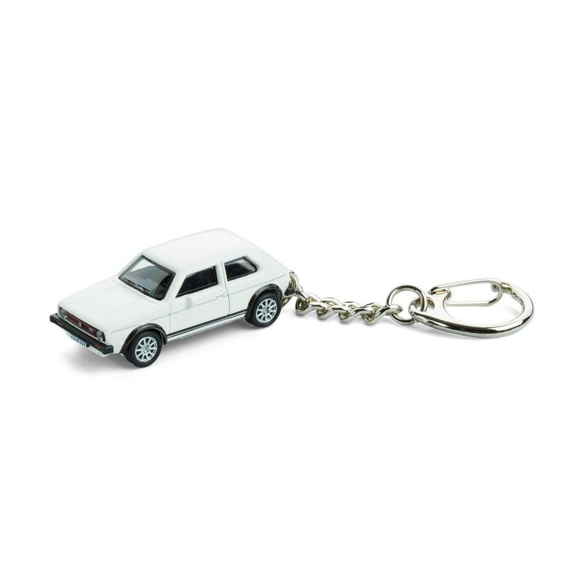 Schlüsselanhänger - VW Golf GTI I auf dem Tisch Ansicht von vorn – corpus delicti design Hamburg – Wir machen Geschenke