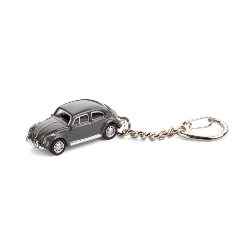 Schlüsselanhänger - VW Käfer grau auf dem Tisch Ansicht von vorn – corpus delicti design Hamburg – Wir machen Geschenke