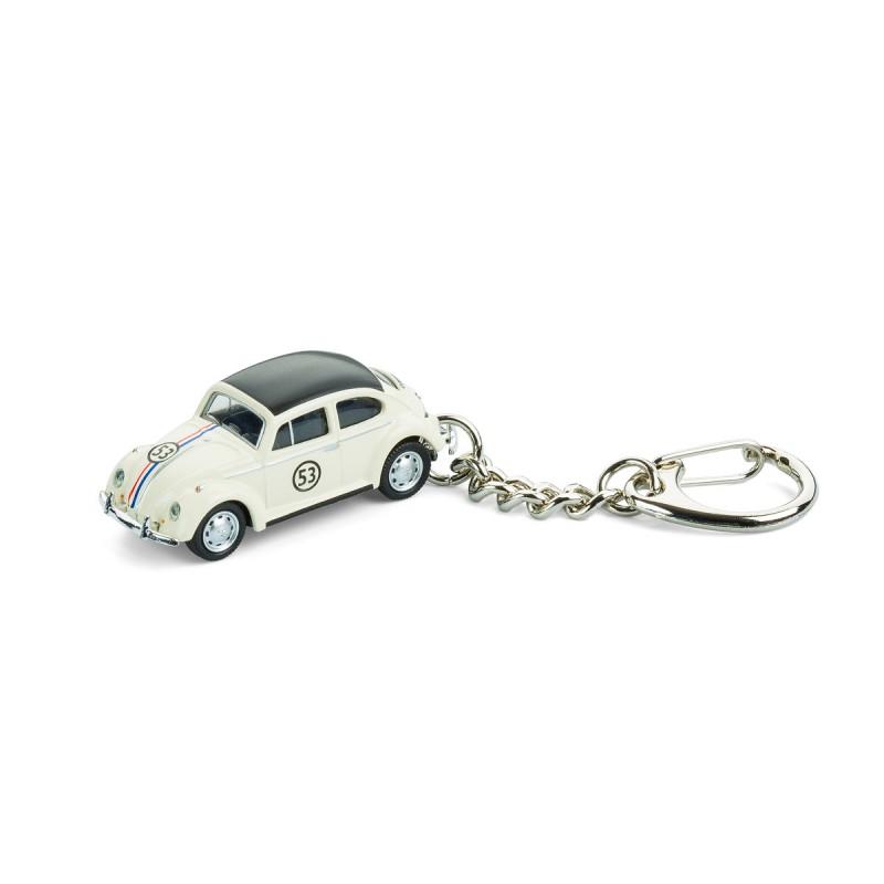 Schlüsselanhänger - VW Käfer Rallye auf dem Tisch Ansicht von vorn – corpus delicti design Hamburg – Wir machen Geschenke