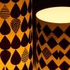 Lichthüllen Black & White Windlicht Detail im Abendlicht – corpus delicti design Hamburg – Wir machen Geschenke