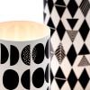 Lichthüllen Black & White Windlicht Detail im Tageslicht – corpus delicti design Hamburg – Wir machen Geschenke
