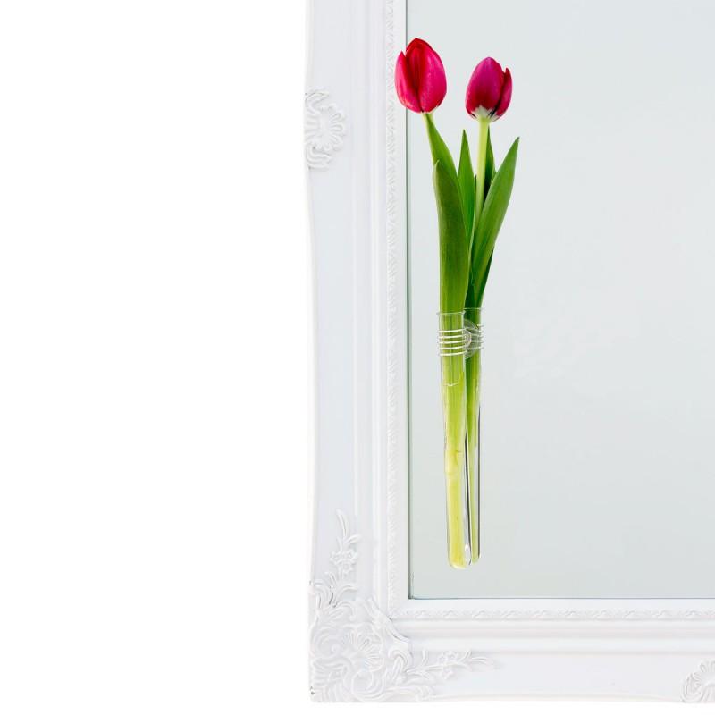 Rosie - Vase mit Saugnapf an eine Spiegel – corpus delicti design Hamburg – Wir machen Geschenke