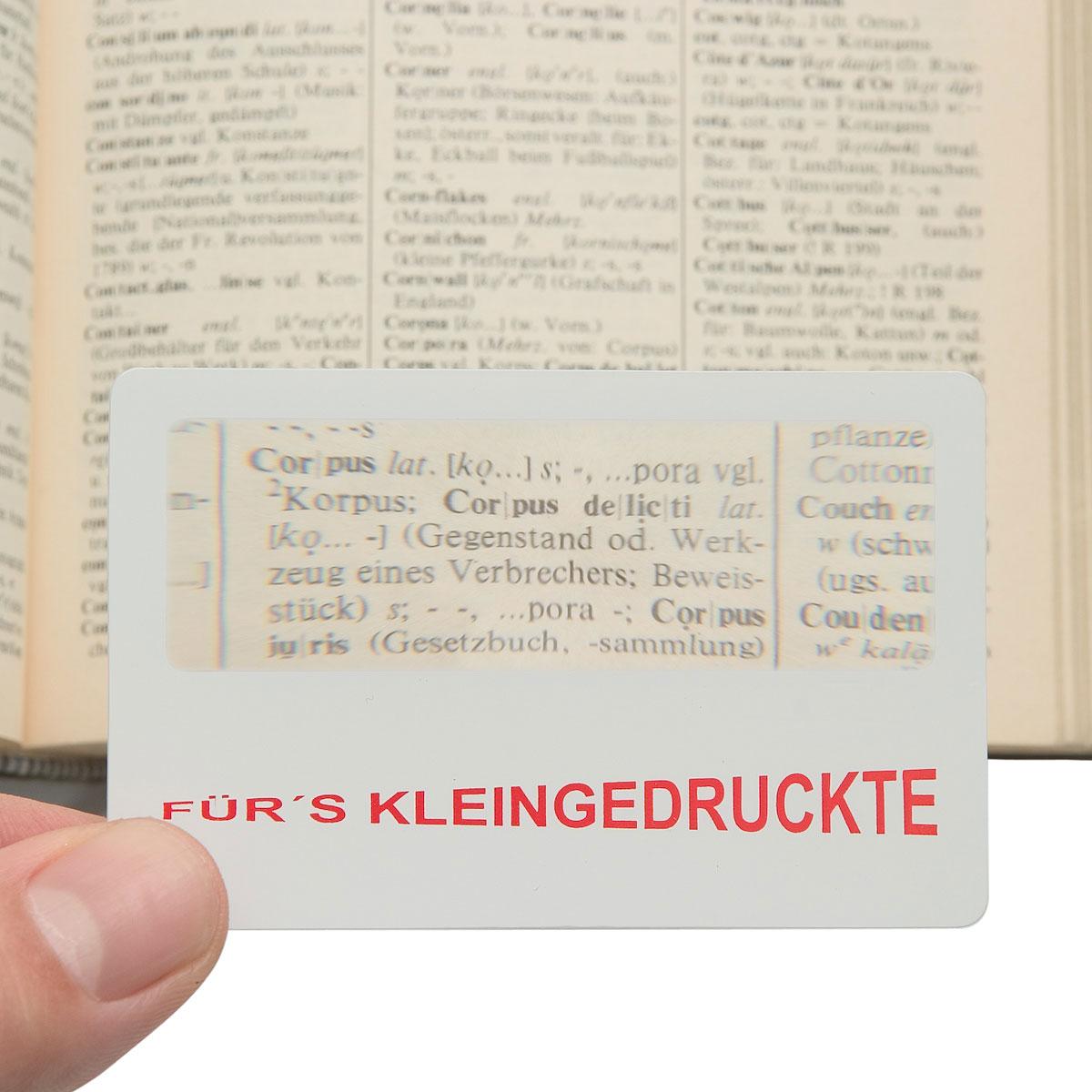 scheckkarten lupe kaufen corpus delicti design hamburg. Black Bedroom Furniture Sets. Home Design Ideas
