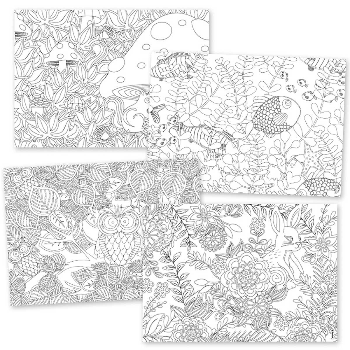 papiertischset coloring fun color me kaufen corpus. Black Bedroom Furniture Sets. Home Design Ideas