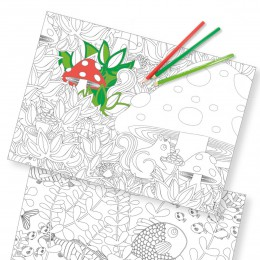 Papier-Tischsets COLORING FUN – COLOR ME