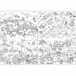 Papier-Tischsets KIDS FUN – COLOR ME