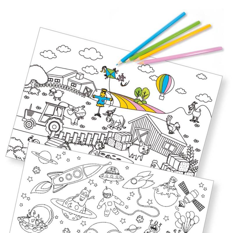 Papiertischset KIDS FUN – COLOR ME – corpus delicti design Hamburg – Wir machen Geschenke