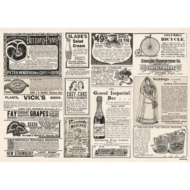 Papier-Tischsets – praktische Platzsets als Abreißblock – NEWSPAPER Blatt 1 – corpus delicti design Hamburg – Wir machen Geschenke