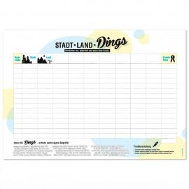 Papier-Tischsets STADT-LAND-DINGS