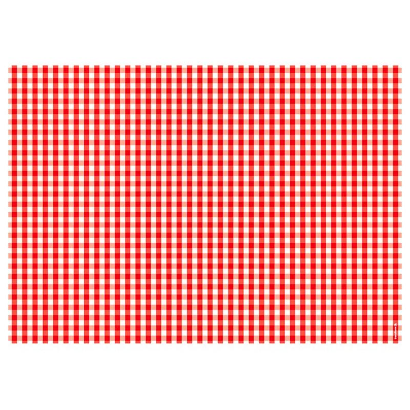 Papier-Tischsets – praktische Platzsets als Abreißblock – VICHY ROT Draufsicht – corpus delicti design Hamburg – Wir machen Geschenke