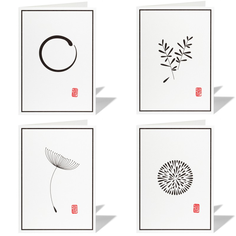 Trauerkarten Stempel 4-er Set alle 4 Motive – corpus delicti design Hamburg – Wir machen Geschenke
