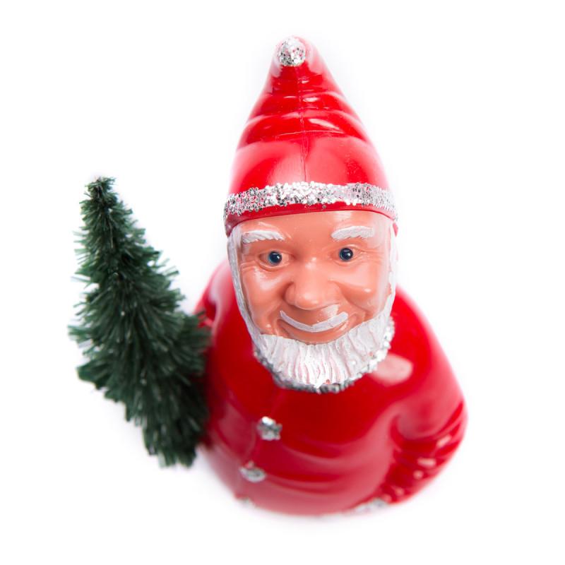 Weihnachtsmann mit Wackelkopf aus der Vogelperspektive – corpus delicti design Hamburg – Wir machen Geschenke