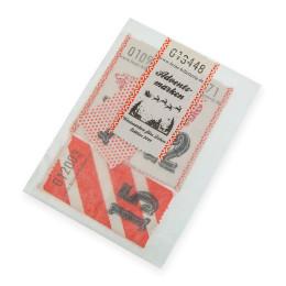 Wertmarken ADVENT (Zahlen1-24) rot/weiß